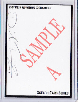 David Tennant - Signed Blank Sketch Card A (Doctor Who)