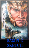 Lucy Lawless - Signed Blank Sketch Card B (Xena & BSG)