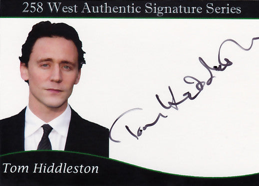 Tom Hiddleston signed trading card - 2012 SDCC Exclusive