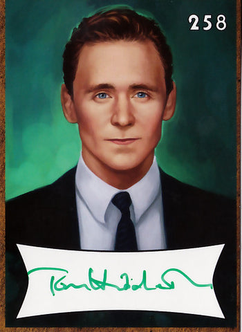Tom Hiddleston signed trading card - Limited to 50