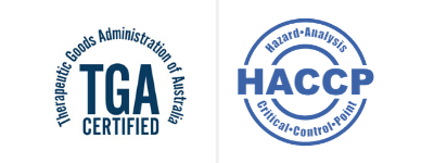 TGA and HACCP accredited