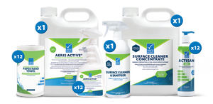 Medium Hygiene Pack - Recommended for health & fitness between 80m² and 200m²