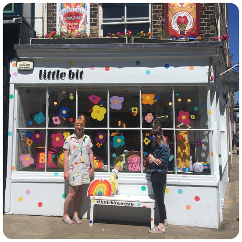Polly and Jennie outside Little Bit in Margate
