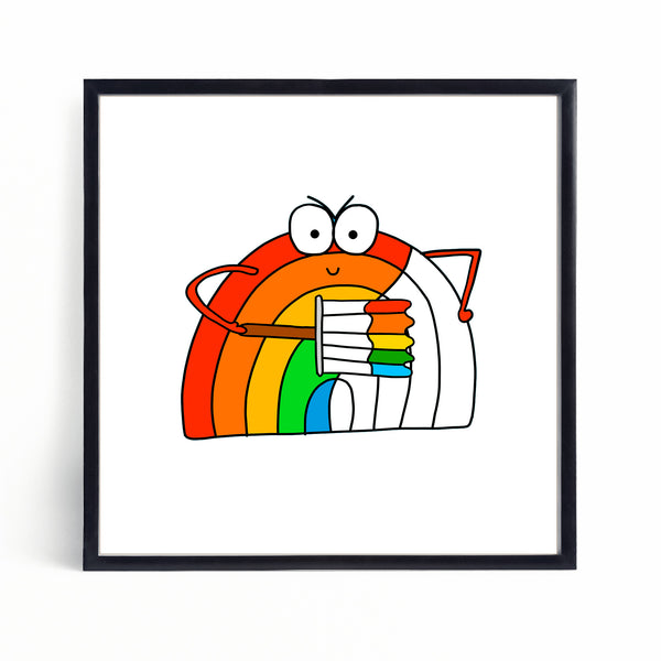 Getting Dressed | Brian the Rainbow | Mini Print - Jennie Sergeant Designs