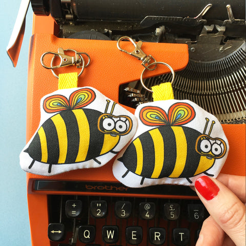 Florence the Bee Keyring - Jennie Sergeant Designs