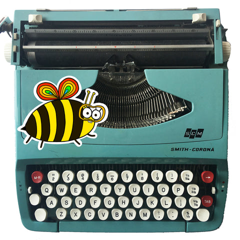 Florence the Bee Vinyl Sticker - Jennie Sergeant Designs