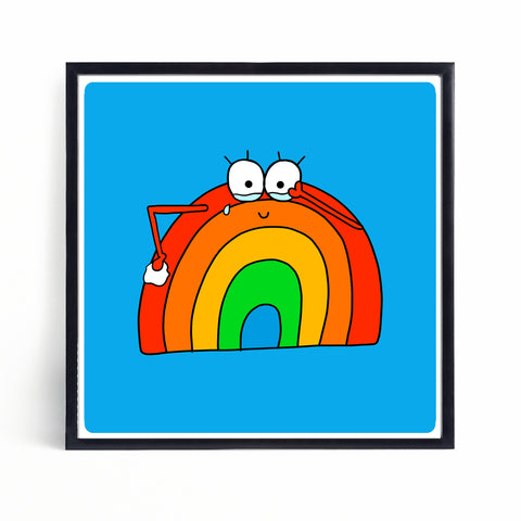 Happy Tears | Brian the Rainbow | Mini Print - Jennie Sergeant Designs