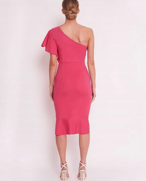 All Night Long Dress Hot Pink