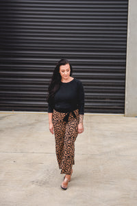 Juliet Knit Pants Leopard