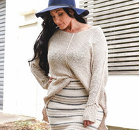 Marlowe Knit Top Beige