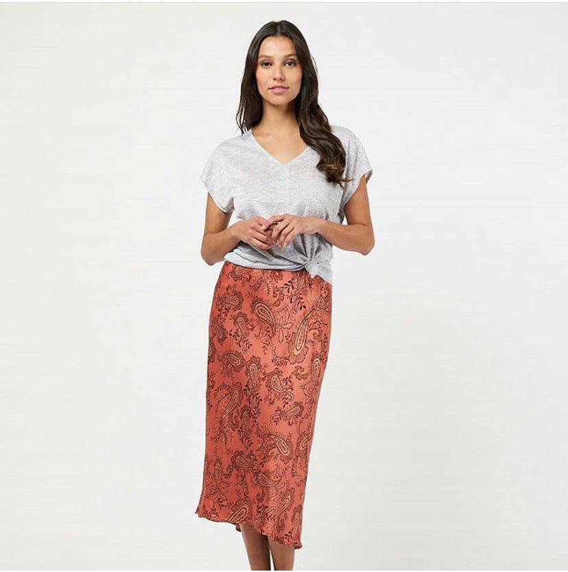 Liberty Paisley Midi Skirt