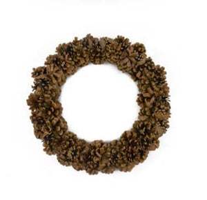 Pinecone Wreath - 16""