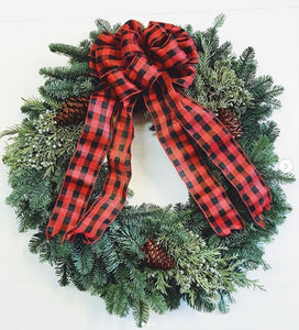 Decorated Mixed Wreath - 24""