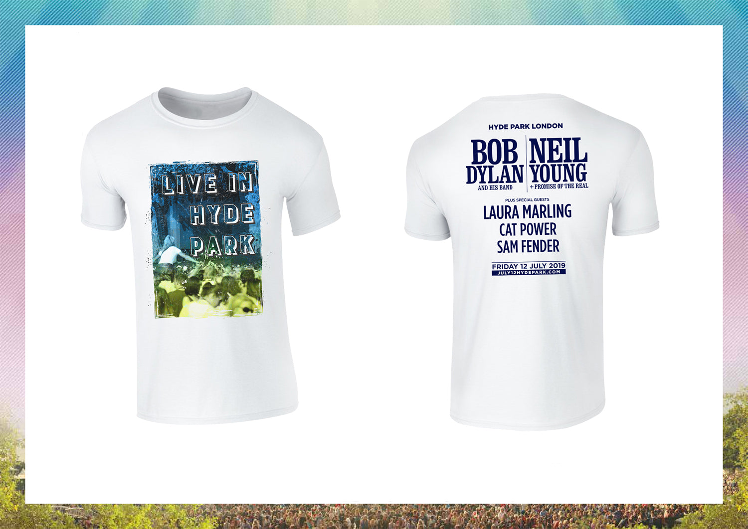 Live In Hyde Park Bob Dylan & Neil Young T-Shirt