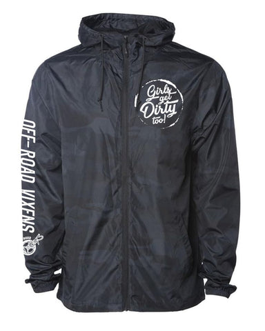 Tornado Windbreaker Jacket - Black Camo