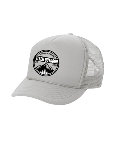 Vixen Outdoor Trucker Hat - Gray