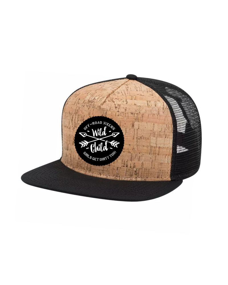 Wild Child Cork Flatbill Trucker