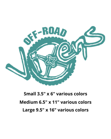 Off-Road Vixens Logo Stickers