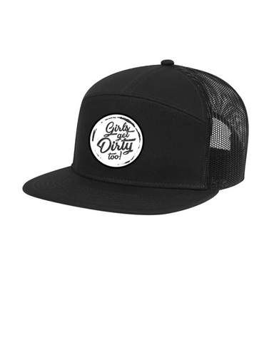 Tornado Flat Bill Trucker Hat - Black