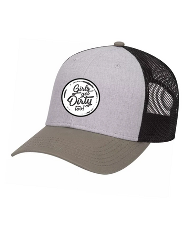 Tornado Low Profile Trucker Hat - Gray/Olive/Black