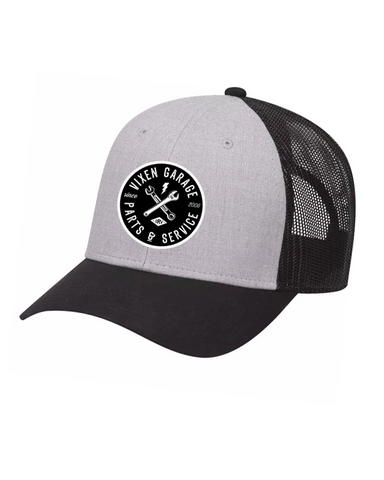 Vixen Garage Low Profile Trucker Hat - Gray/Black