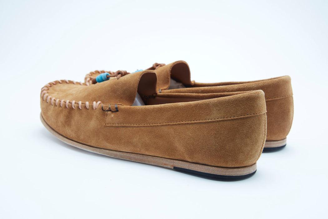 leather and suede moccasins