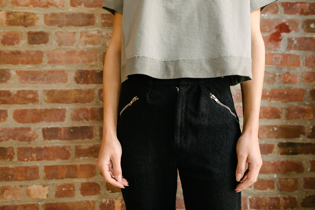 womens crew neck cropped