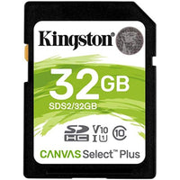 Kingston 32GB SDHC CANVAS SELECT PLUS 100R C10