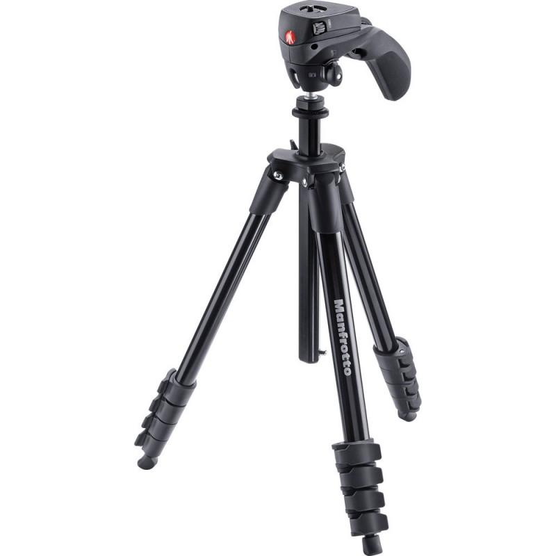 Tripie Manfrotto Compact Action Negro
