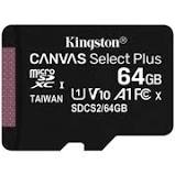 Tarjeta MicroSD KINGSTON de 64GB Canvas Select Plus