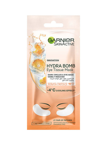Garnier Moisture Bomb Eye Tissue Mask with Hyaluronic Acid & Orange Juice