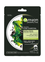 Load image into Gallery viewer, Garnier Pore Tightening Pure Charcoal Hydrating Face Tissue Mask