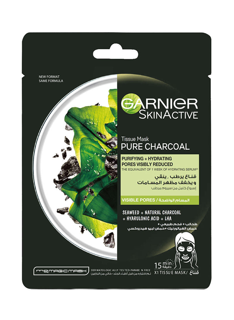Garnier Pore Tightening Pure Charcoal Hydrating Face Tissue Mask