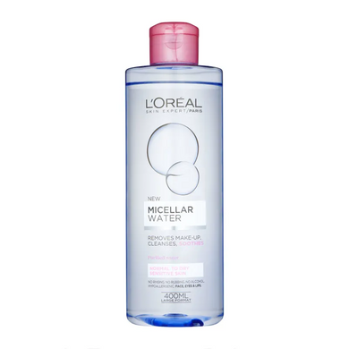 L'Oreal Paris Micellar Water Makeup Remover Normal to Dry Skin 400ml