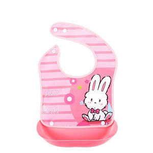 PROMOTION ITEM!!   2 In 1 Cute Baby Cartoon Waterproof Food Grade Removable Saliva Towels & Apron Bibs