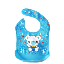 Load image into Gallery viewer, PROMOTION ITEM!!   2 In 1 Cute Baby Cartoon Waterproof Food Grade Removable Saliva Towels & Apron Bibs