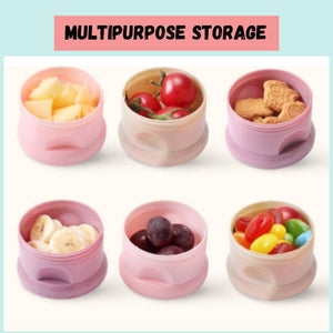 Multi-function Side-open Able Layers Bear Style Portable Baby Food Storage Box & Milk Powder Box Container