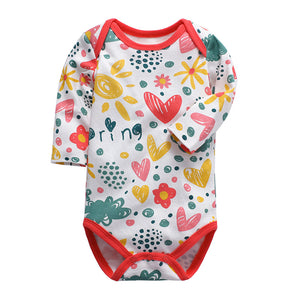 New High Quality 100% Cotton Long Sleeve Boys And Girls Fashion Baby Rompers