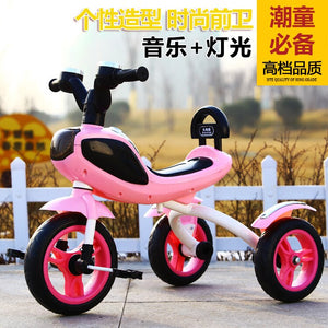 New Multi-function Foldable Children's Ride On Music & Light Foam Wheel Tricycle