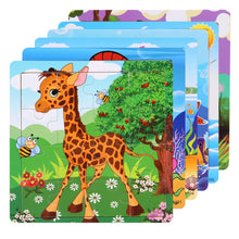 Load image into Gallery viewer, Wooden 3D Puzzles Cartoon Animal And Vehicle Educational Learning Toy Puzzles