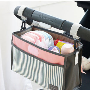 Baby Stroller Diaper & Feeding Bottle Mummy Hanging Storage Organizer Travel Bag