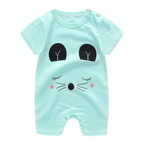 New High Quality 100% Cotton Short Sleeve Boys And Girls Fashion Baby Rompers