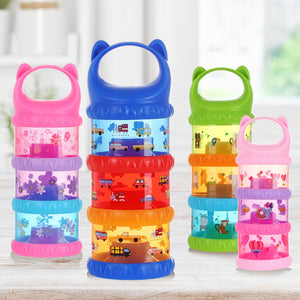 MOMMUUM SPECIAL!!  Baby Travel 3-Layer Baby Milk Powder Dispenser Non-Spill Storage Container