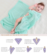 Load image into Gallery viewer, Newborn Baby 100% Soft Cotton Lightweight & Breathable Bedding Swaddle Muslin Travel Blankets