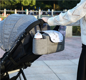 Baby Stroller Waterproof Portable Organizer Feeding Milk Bottles Holder Diaper Changing Bag