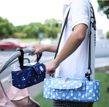 Load image into Gallery viewer, Baby Stroller Waterproof Portable Organizer Feeding Milk Bottles Holder Diaper Changing Bag