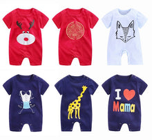 Load image into Gallery viewer, New High Quality 100% Cotton Short Sleeve Boys And Girls Fashion Baby Rompers