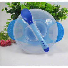 Load image into Gallery viewer, Baby Dinnerware Temperature Sensing Feeding Spoon Tableware Food Bowl Service Set