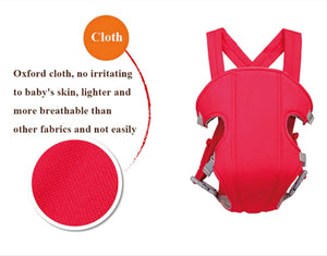 Multifunctional Breathable Front Facing Baby Carrier Comfortable Sling Backpack Pouch Wrap Baby Kangaroo Adjustable Safety Carrier