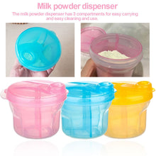 Load image into Gallery viewer, Portable Baby Milk Powder Dispenser & Food Container Bean Storage Box